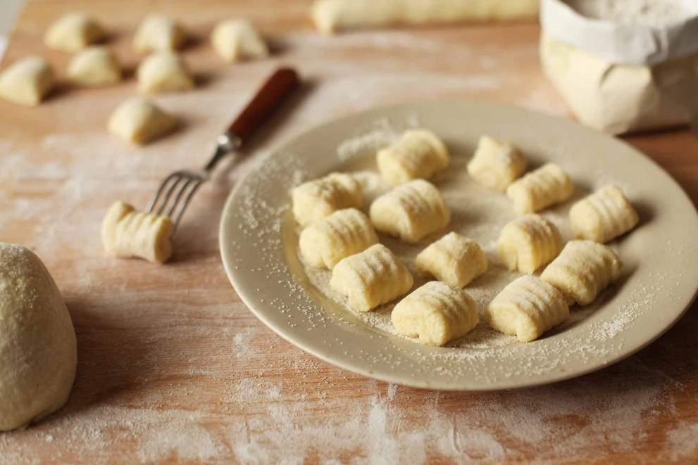 Making Simple Potato Gnocchi at home