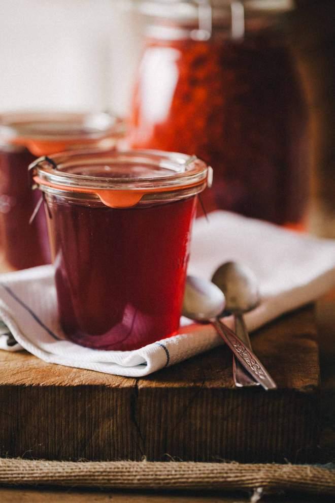Rowan berry jelly in a jar